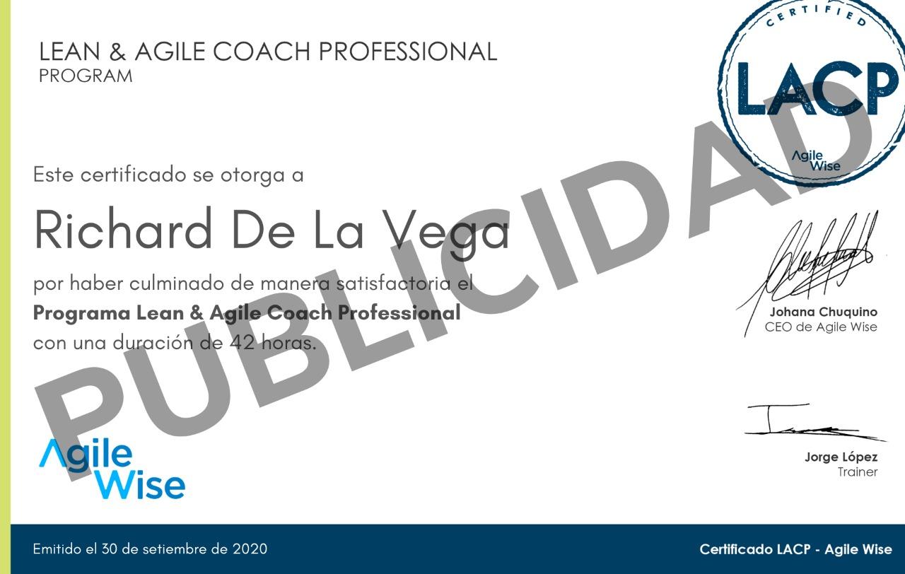Certificado LACP AgileWise